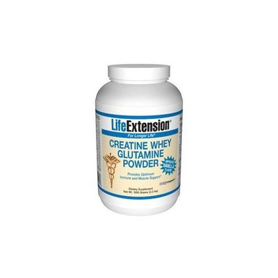 Life Extension Creatine Whey Glutamine Powder, Vanilla