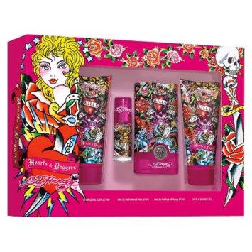 Women's Hearts & Daggers by Ed Hardy 4 Piece Gift Set
