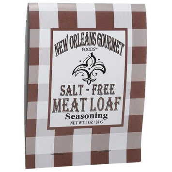 New Orleans Gourmet Foods Orleans Gourmet Foods Salt-Free Cajun Meat Loaf Seasoning, 1-Ounce Bags (Pack of 8)