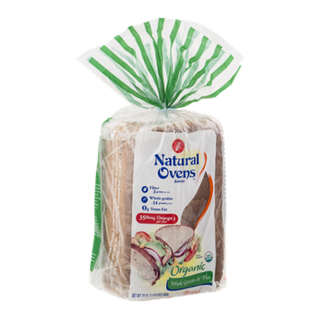 Natural Ovens Organic Whole Grains & Flax Bread