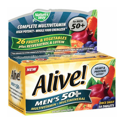 Placeholder Alive! Once Daily Men's 50+ Multivitamin/Multimineral