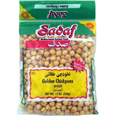 Sadaf Chick Peas Golden, 12-Ounce (Pack of 6)