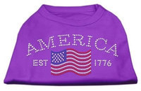 Mirage Pet Products 5221 LGPR Classic American Rhinestone Shirts Purple L 14
