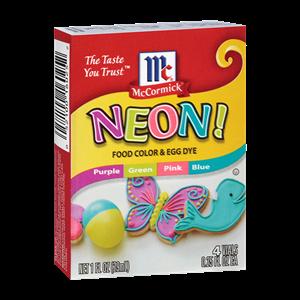 McCormick® Assorted Neon Food Colors & Egg Dye