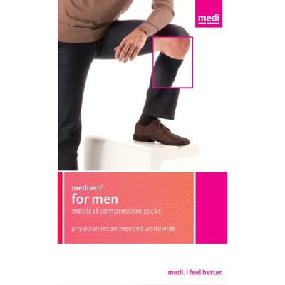 Mediven for Men 20-30mmHg Knee High Compression Socks : Black Size VI