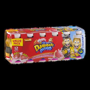 Dannon Danimals Smoothie Drinks Strawberry Explosion/Wild Watermelon - 12 CT