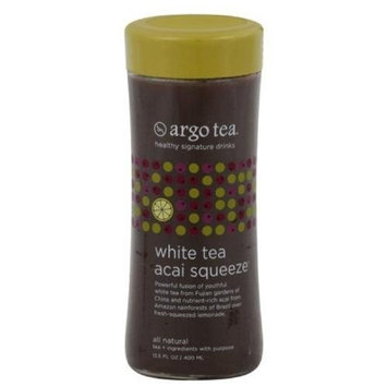 Argo Tea Tea, White Acai, 13.5-Ounce Glass (Pack of 6)