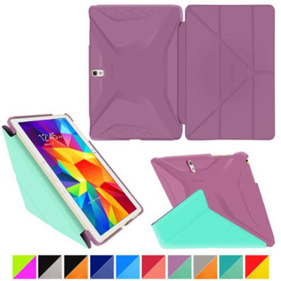 roocase Samsung Galaxy Tab S 10.5 Case - Origami 3D [Radiant Orchid / Mint Candy] Slim Shell 10.5-Inch 10.5