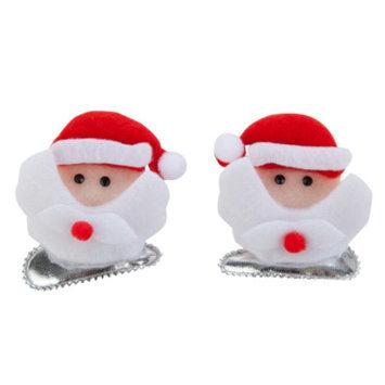 Top PawA Pet HolidayTM Santa Face Hair Clips