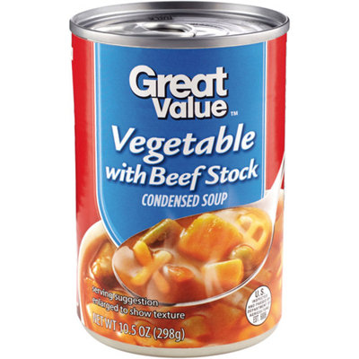Great Value : Vegtable With Beef Stock Condensed Soup