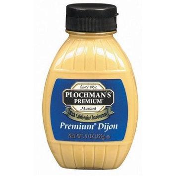 Plochman's Squeeze Barrel Mustard, Premium Dijon, 9-Ounce Squeeze Barrels (Pack of 6)