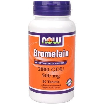 NOW Foods Bromelain 2400Gdu/500mg, 120 Vcaps (Pack of 3 (120 vcaps ea))