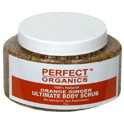 Perfect Organics Ultimate Body Scrub, Orange Ginger, 8-Ounce Jar