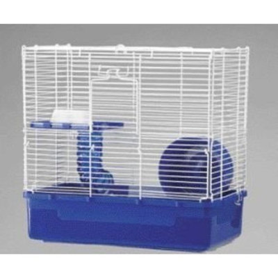 Ware Manufacturing Plastic Base 2 Level Home Sweet Home Hamster Cage with Wire Top, 3-Pack, Colors Vary