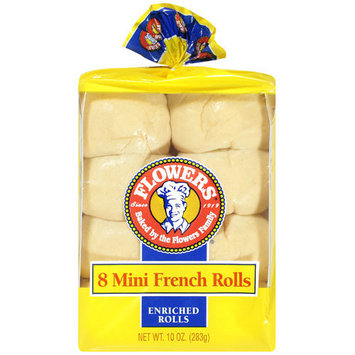 Flowers: Rolls Mini French Enriched, 8 Ct
