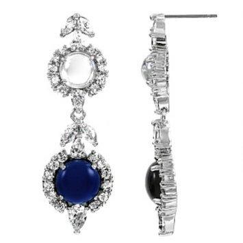 Emitations Sileny's Sapphire Cabochon Dangle Earrings, Sapphire, 1 ea