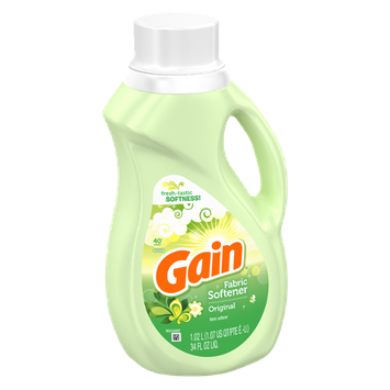 Gain with FreshLock Original Liquid Fabric Softener 40 Loads 34 Fl Oz