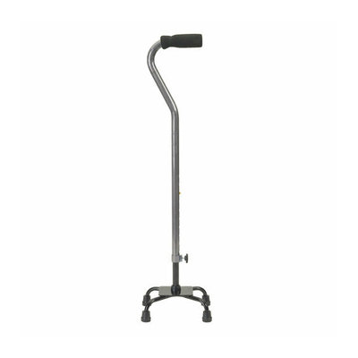Drive Medical Small Base Quad Cane with Foam Rubber Hand Grip