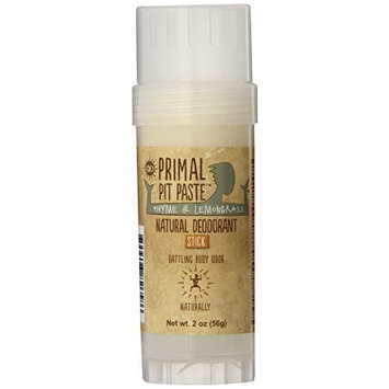Primal Pit Paste All Natural Deodorant Stick, Aluminum Free, Paraben Free, No Added Fragrances, Thyme & Lemongrass Stick []