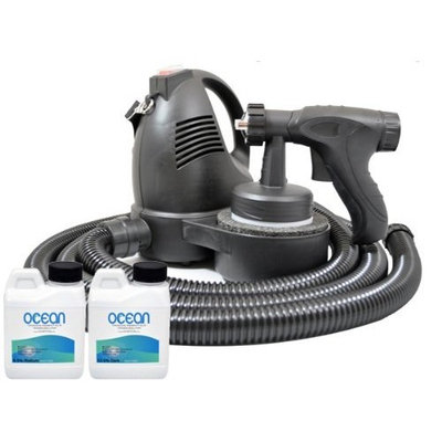 Complete Turbo Tan Deluxe (Model T65) Professional Sunless HVLP Turbine Spray Tanning System with 2 Spray Tanning Solutions