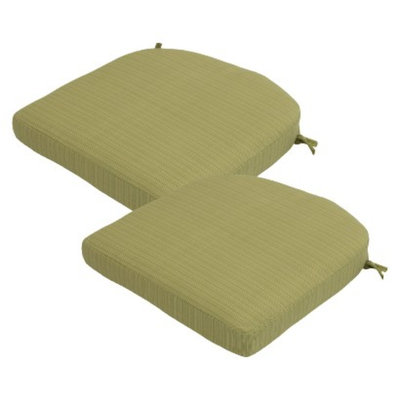 Threshold 2-Piece Outdoor Round Back Seat Cushion Set - Lime