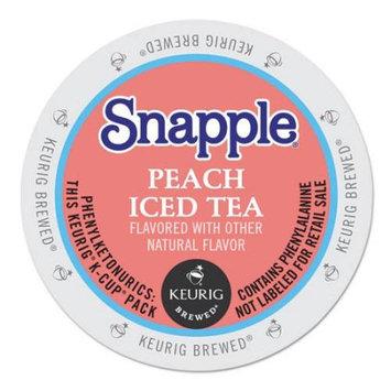 Snapple(R) Peach Iced Tea K-Cups(R), 0.47 Oz, Box Of 22