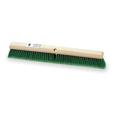 TOUGH GUY 3U767 Push Broom, Green Synthetic, Floor Brush