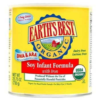 Earth's Best Organic Soy-Based Infant Formula - 23.2 oz. (4 Pack)
