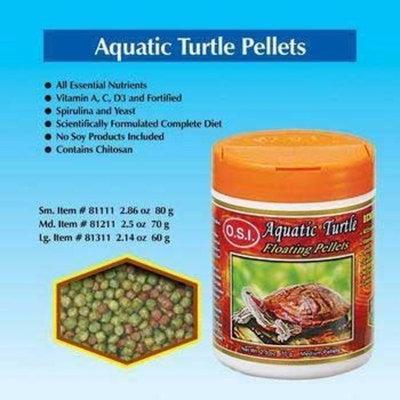 O.S.I. Ocean Star International Turtle Floating Pellets Shrimp Treat 2.86 Oz