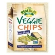 The Real Deal All Nat'l Snacks VEGGIE CHIP, WHITE CHEDDAR, (Pack of 12)