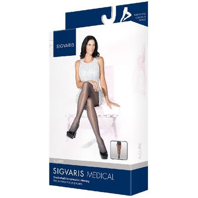 Sigvaris Allure 712PLLW91 20-30 Mmhg Large Long Panty Hose For Women Graphite