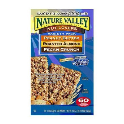 Nature Valley Nut Lovers Variety Pack - 60 Bars