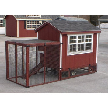 A And L Furniture Co A & L Furniture Henny Penny Super Coop with Yard Kit White Stauffer Red