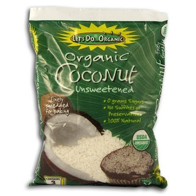 Lets Do Let's Do...organic Edward & Sons Shredded Coconut, Org (Pack of 3)