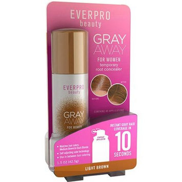 Ever Pro Everpro Beauty Gray Away for Women Temporary Root Concealer, Light Brown, 1.5 oz