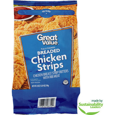 Great Value Crispy Chicken Strips, 25 oz