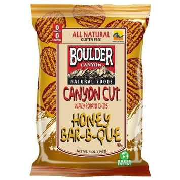 Boulder Canyon Canyon Cut Chips, Honey BBQ, 5-Ounce Bags (Pack of 12)