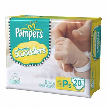 Pampers Swaddlers Preemie Diapers, P-S, Up to 6 lbs, 20 ea, 20 ea