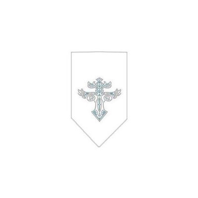 Ahi Warriors Cross Rhinestone Bandana White Large