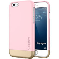 iPhone 6 Case, Spigen® [Safe Slide] Stylish Color [Style Armor] [Sherbet Pink] SOFT-Interior Scratch Protection with Dual Layer Trendy Hard Case for iPhone 6 (2014) - Sherbet Pink (SGP11044)