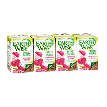 Earth Wise Entirely Natural Watermelon Supreme Fruit Juice - 4 PK