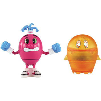 PacMan Pac-Man Pac-Panic Battle Spinners Action Figures, Set of 2, Spiral & Clyde