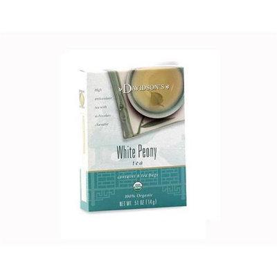 Davidson's Tea Davidson Organic Tea 2227 White Peony Tea Box of 8