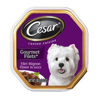 Cesar Canine Cuisine Gourmet Filets in Sauce Rib-Eye Steak Flavor for Small Dogs, 3.5-Ounce Trays (Pack of 24)