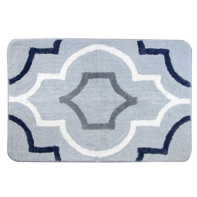 Allure Home Jaclyn Smith Bath Rug Lattice Scroll - ALLURE HOME CREATION CO. INC.