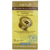 CBTL Butterscotch Toffee Coffee Capsules By The Coffee Bean & Tea Leaf, 16-Count Box