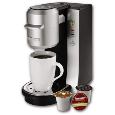 Mr. Coffee Single-Serve Coffeemaker, BVMC-KG2-001, Black and Silver