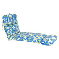Jordan Outdoor Chaise Lounge Cushion - Blue/Green Floral