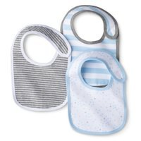 Newborn Boys' 3 Pack Bibs - Alabaster Blue by Circo