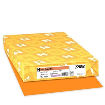 Wausau Papers 22653 Astrobrights Colored Paper, 24lb, 11 X 17, Cosmic Orange, 500 Sheets/ream